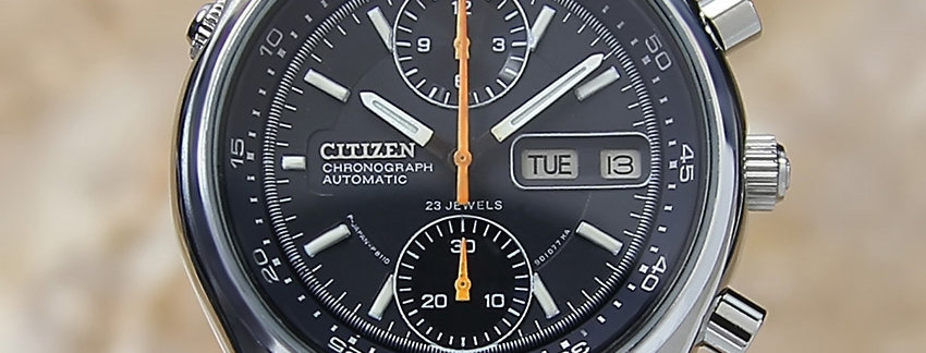 1970's Stainless Steel Japanese Citizen Chronograph  Men's Watch
