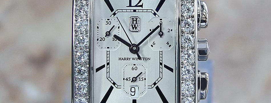 Harry Winston Avenue 18k Diamond Chronograph Watch