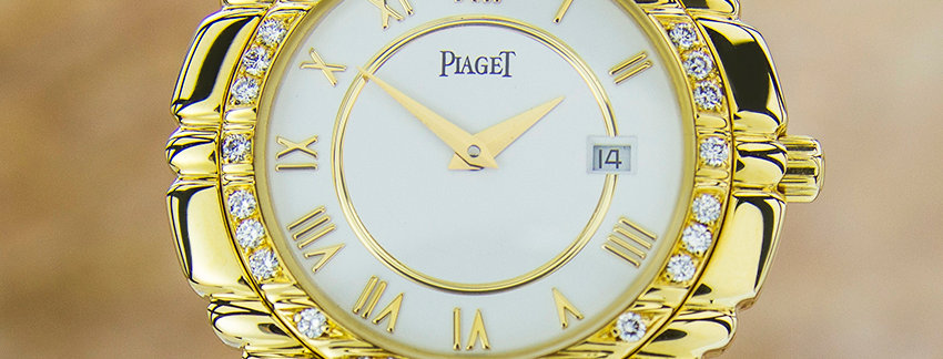 Piaget Tanagra 17043 M401D Diamond 18k Gold Watch