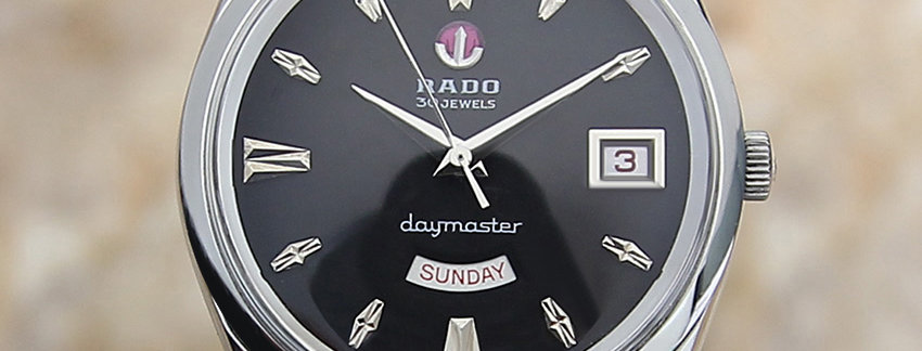 Rado Daymaster 1960s Swiss Made Vintage Day Date Automatic Mens Watch