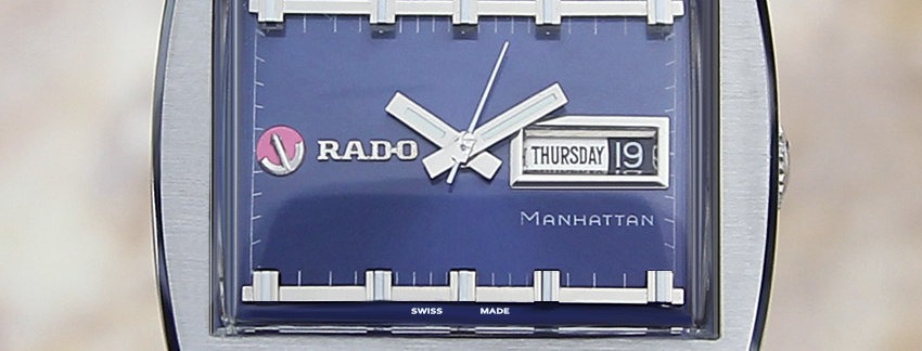 Rado Manhattan 1970 Swiss Vintage Rare SS Auto 38mm Watch