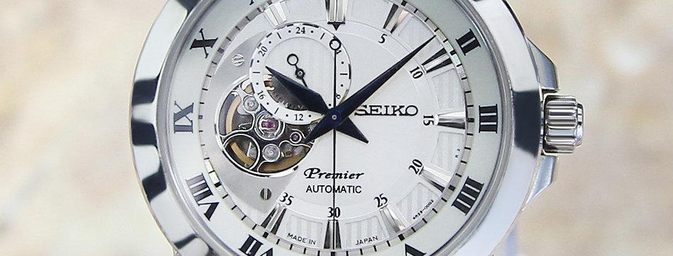 Seiko Premier 4R39 00L0 Automatic 42mm Watch