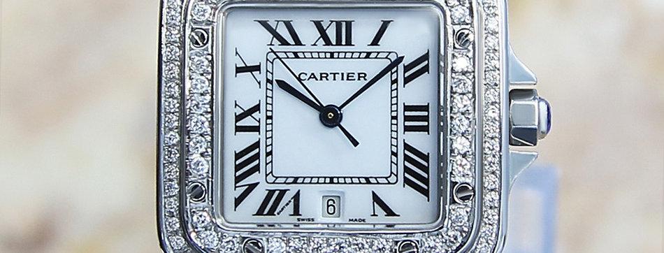 Cartier Santos Galbe Unisex Diamond Watch