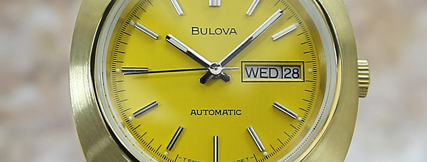 Vintage 1970's Bulova Men's 39mm Watch