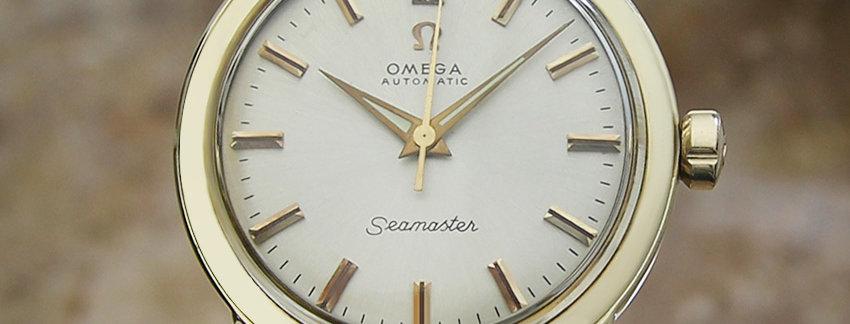 Omega Seamaster 14k Gold Vintage Watch