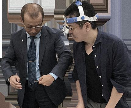 Dr. Fukawa demonstrating