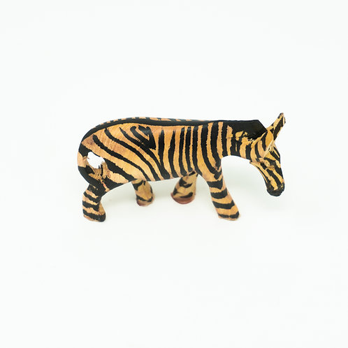 Hand carved Zebra