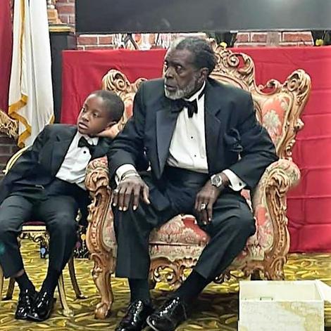 Bishop with Grandson Jace