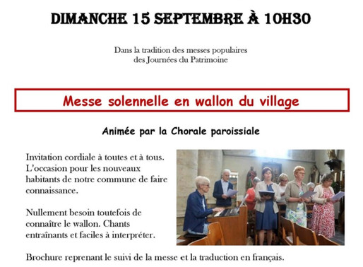 Messe solennelle en wallon du village