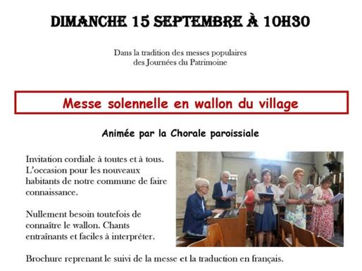 Messe solennelle en wallon du village