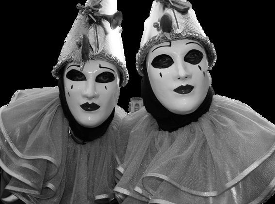 Black & White clowns