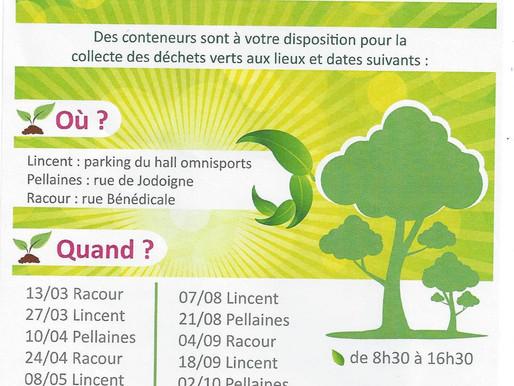 Collecte des déchets verts - Lincent
