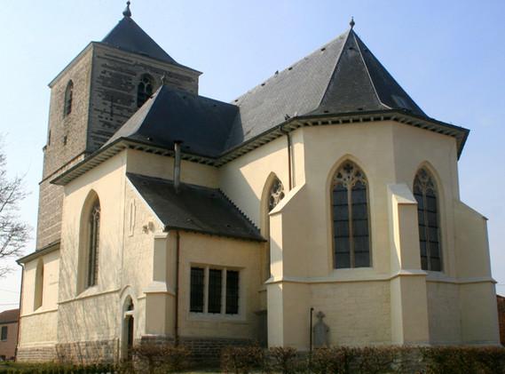 l'église gothique St Christophe Racour
