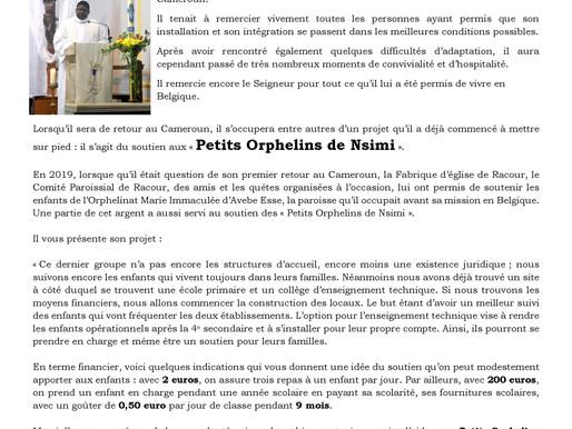 Unité Pastorale Notre Dame des Champs Paroisse Saint-Christophe de Racour