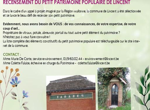 Recensement du petit patrimoine polulaire de Lincent