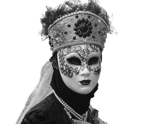 Gold woman black and whiteg