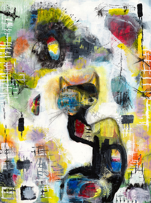 All Cats Can See, 2017 -SOLD $550.00