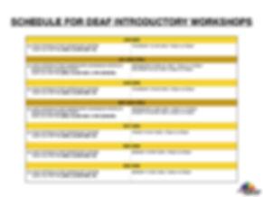 EO Horizons Deaf Intro Workshop Schedule