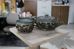 Facebook - Finally glazed this teapot and cup