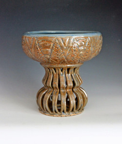 Carved Standing Bowl