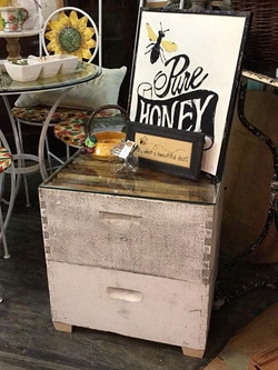 Bee box side table