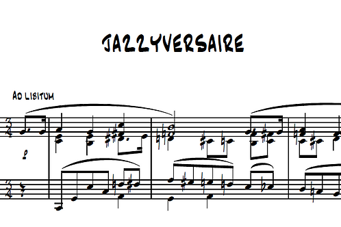 Jazzyversaire Op.50 for piano
