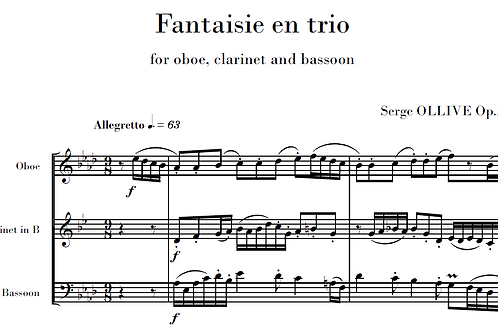 Fantaisie en trio Op.27 for woodwinds
