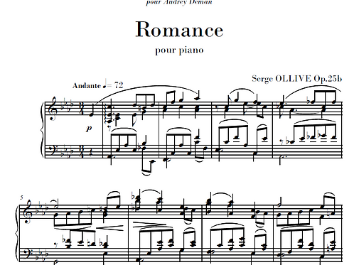 Romance Op.25b for piano