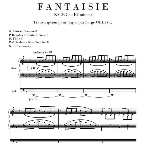 Mozart : Fantasy in D minor (organ transcription)
