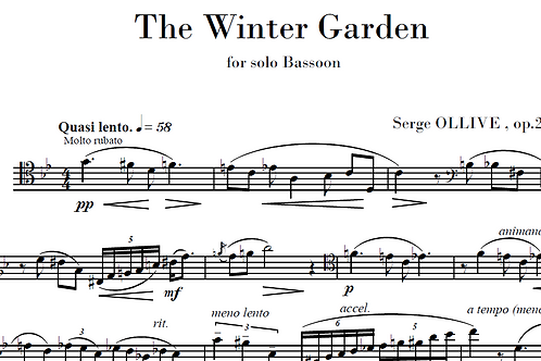The winter garden Op.24 n°2 for bassoon solo
