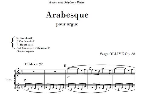 Arabesque Op.38 for organ