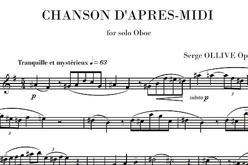 Chanson d'après-midi Op.24 n°1 for oboe solo