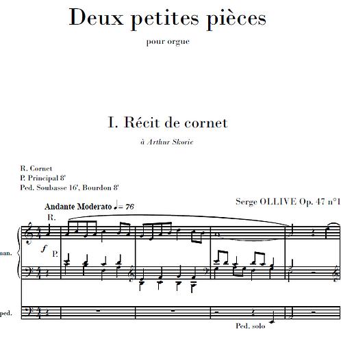 2 Petites pièces Op.47 for organ