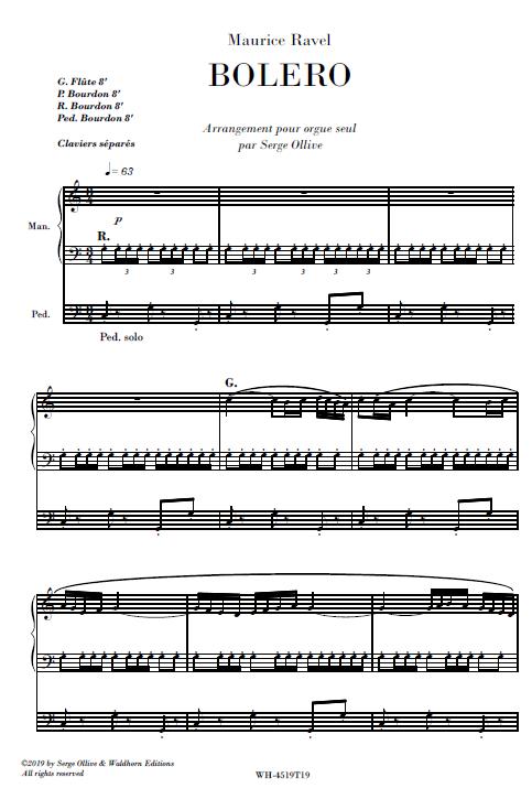 Ravel : Boléro (organ transcription)