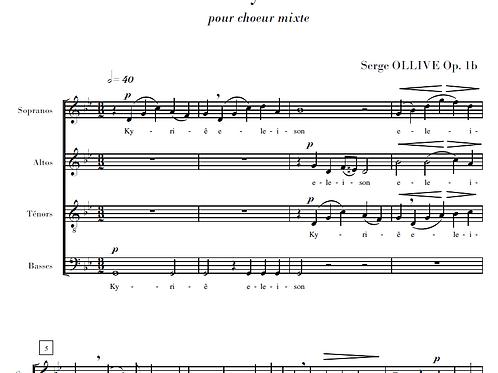 Kyriê Op.1b for choir