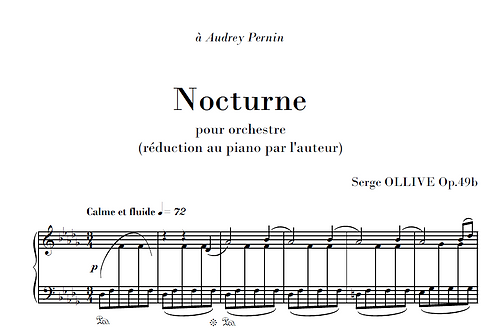 Nocturne Op.49b for piano