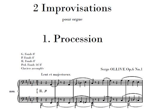 2 Improvisations Op.6 for organ