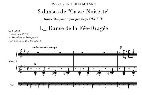 Tchaikovsky : 2 pieces from Nutcracker (organ transcription)