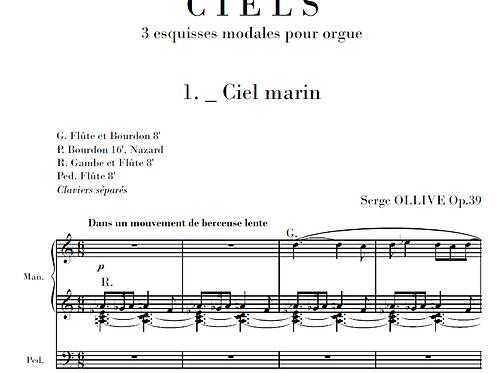 Ciels Op.39 for organ