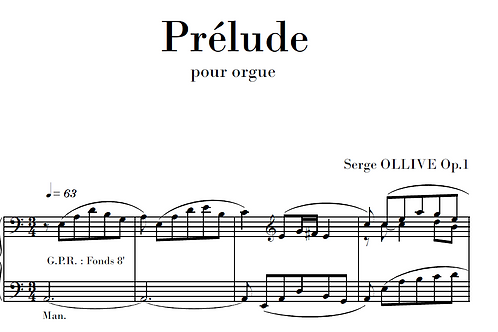 Prélude Op.1 for organ