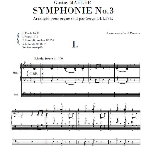 Mahler : Symphony n°3 (organ transcription)
