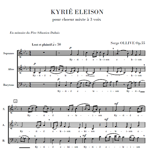 Kyriê Eleison Op.55 for choir