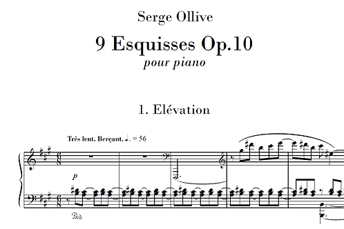 9 Esquisses Op.10 for piano
