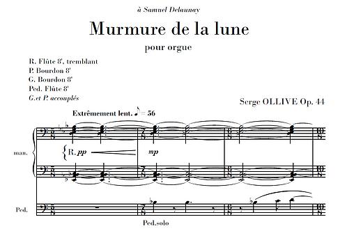 Murmure de la lune Op.44 for organ