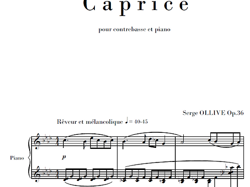 Caprice Op.36 for doublebass & piano