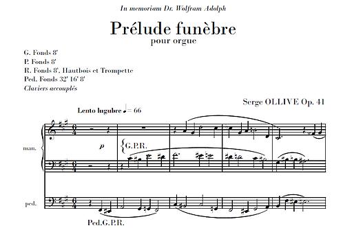 Prélude funèbre Op.41 for organ
