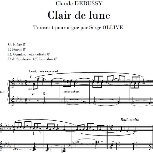Debussy : Clair de lune (organ transcription)