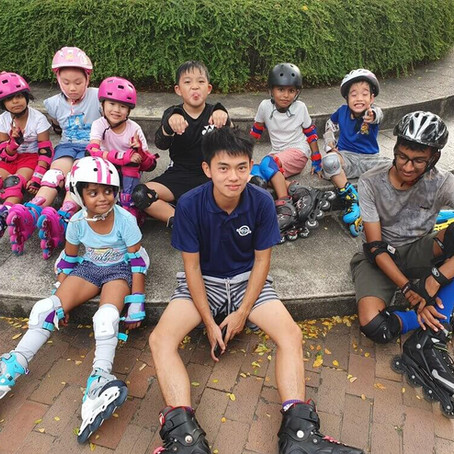 Punggol Park Inline Skating Lesson