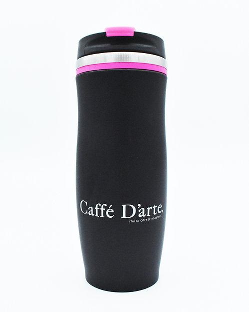 Pink & Black Travel Mug