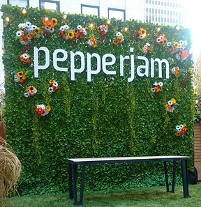 Living Wall with Custom Logo Placement & Flowers!!